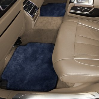 Superlamb® - Tailor-Made Sheepskin 2nd Row Navy Floor Mats with Heel Pad