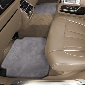 Superlamb® - Tailor-Made Sheepskin 2nd Row Steel Gray Floor Mats with Heel Pad