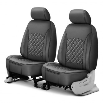 Superlamb® - Leatherette 1st Row Double Cap Diamond Seat Covers