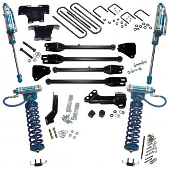 "Superlift® - 4"" x 3"" 4-Link Front and Rear Suspension Lift Kit"
