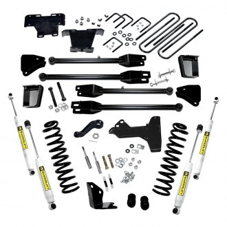 "Superlift® - 6"" x 5"" 4-Link Front and Rear Complite Suspension Lift Kit"