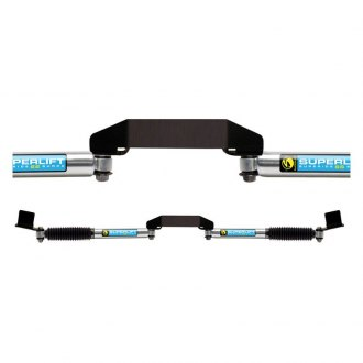 Superlift® - Superide SS Dual Steering Stabilizer Complete Kit