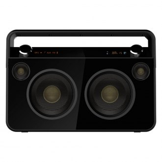Supersonic® - Bluetooth Boombox Black