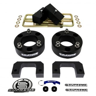 "Supreme Suspensions® - 3.5"" Pro Billet Series Front and Rear Suspension Full Lift Kit"