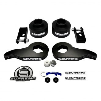 "Supreme Suspensions® - 1""-3"" x 1.5"" Pro Series Front and Rear Complete Lift Kit"