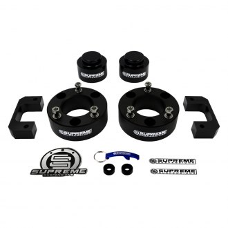 "Supreme Suspensions® - 3.5"" x 3"" Pro Billet Series Front and Rear Suspension Lift Kit"