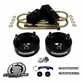 "Supreme Suspensions® - 2.5"" x 1.5"" Pro Billet Series Front and Rear Suspension Lift Kit"