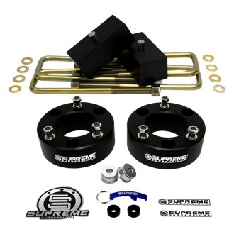 "Supreme Suspensions® - 2.5"" x 2"" Pro Billet Series Front and Rear Suspension Lift Kit"