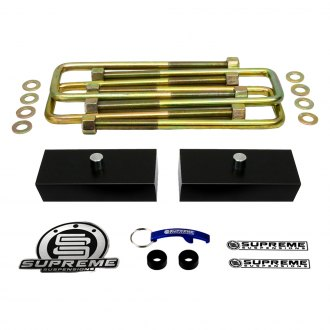 "Supreme Suspensions® - 1"" Pro Billet Series Solid Rear Lifted Block Kit"