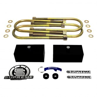 "Supreme Suspensions® - 1.5"" Pro Billet Series Solid Rear Lifted Block Kit"