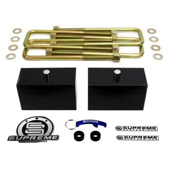 "Supreme Suspensions® - 3"" Pro Billet Series Solid Rear Lifted Block Kit"