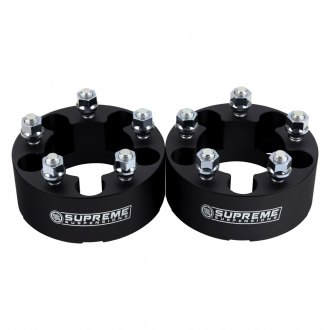 Supreme Suspensions® - Pro Billet Black Wheel Spacer Set