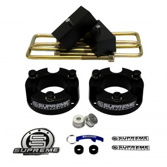 "Supreme Suspensions® - 3"" x 2"" Pro Billet Series Front and Rear Suspension Lift Kit"