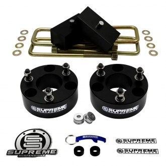 "Supreme Suspensions® - 1.5"" x 1"" Pro Billet Series Front and Rear Suspension Full Lift Kit"