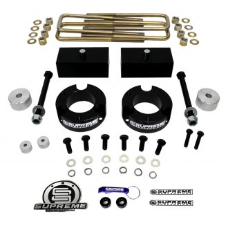 "Supreme Suspensions® - 2.5"" x 1"" Pro Billet Series Front and Rear Suspension Lift Kit"