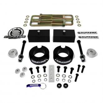 "Supreme Suspensions® - 2.5"" x 1"" Pro Billet Series Front and Rear Complete Lift Kit"