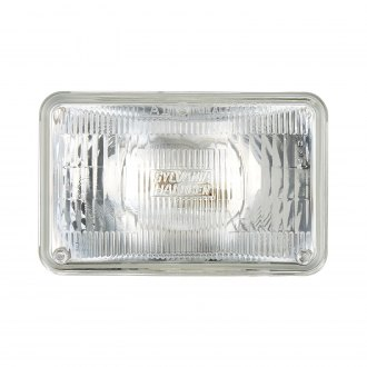 "Sylvania® - 4x6"" Rectangular Chrome Factory Style Sealed Beam Headlight"