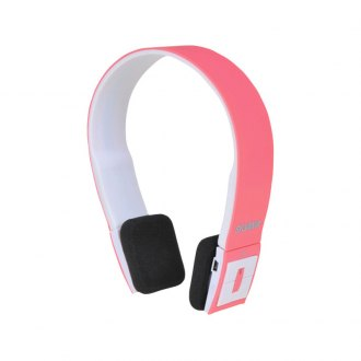 Sylvania® - Bluetooth Headphones with Microphone (Pink)