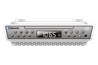 Sylvania® - Under-Counter Bluetooth CD Clock Radio