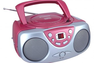 Sylvania® - Portable CD Radio Boom Box (Pink)