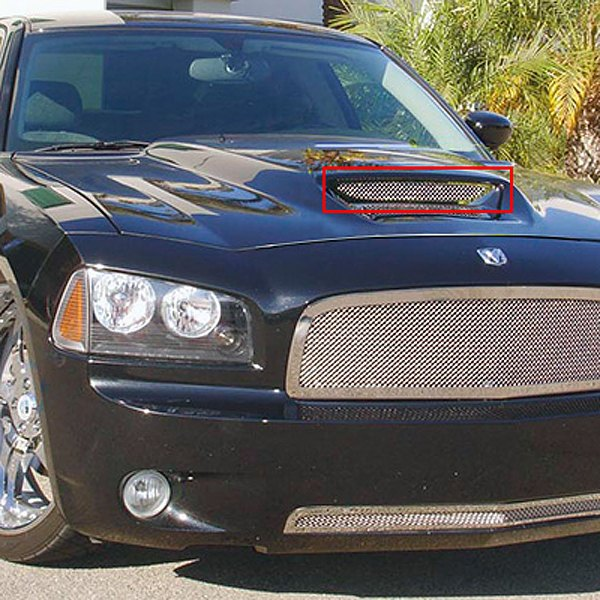 T-Rex® - T1 Series Mesh Look Polished Hood Scoop Grille