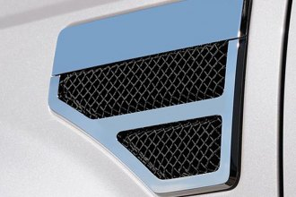 T-Rex® - 2-Pc Black Formed Mesh Side Vent Grilles