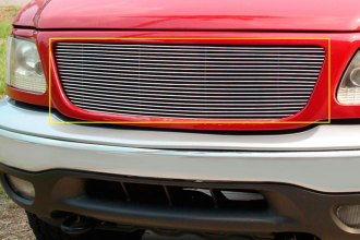 T-Rex® 20580 - 1-Pc Horizontal Polished Billet Main Grille Insert