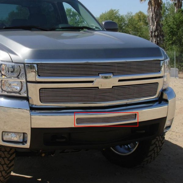 T-Rex® - Horizontal Polished Billet Top Pad Bumper Grille