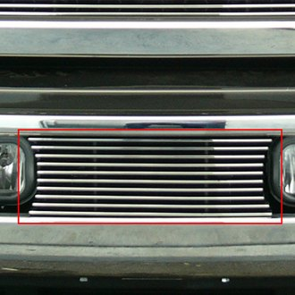 T-Rex® - Horizontal Polished Billet Bumper Grille
