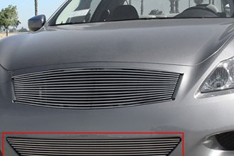 T-Rex® 25810 - 1-Pc Horizontal Polished Billet Bumper Grille
