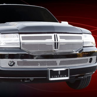 T-Rex® - 4-Pc Upper Class Series Chrome Mesh Grille