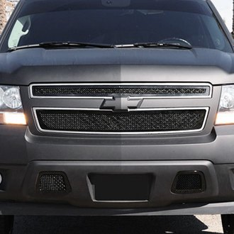 T-Rex® - 2-Pc Look Upper Class Series Black Mesh Grille