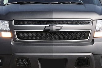 T-Rex® - 2-Pc Upper Class Series 2-Pc Style Black Mesh Grille