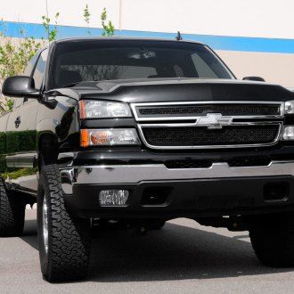 T-Rex® - 2-Pc Upper Class Series Black Mesh Grille