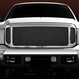 T-Rex® - 3-Pc Look Upper Class Series Black Mesh Grille