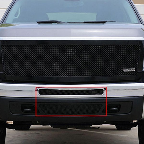 T-Rex® - 2-Pc Upper Class Series Black Mesh Bumper Grille