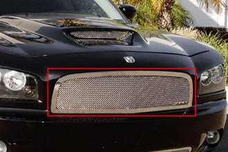 T-Rex® 54474 - 1-Pc Upper Class Series Polished Mesh Main Grille