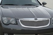 T-Rex® - 3-Pc Upper Class Series Polished Mesh Main and Bumper Grille Kit