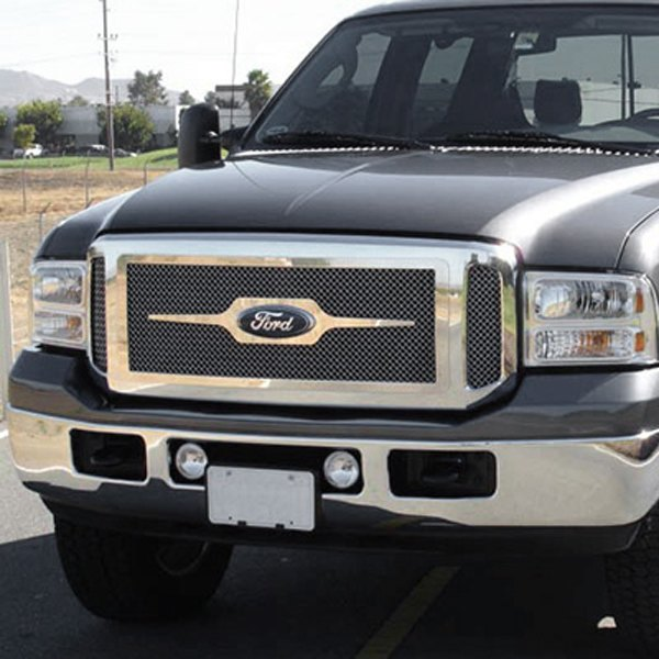 T-Rex® - 3-Pc Look Upper Class Series Polished Mesh Main Grille