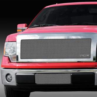 T-Rex® - 1-Pc Upper Class Series Polished Full Opening Mesh Grille