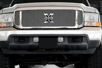 T-Rex® - 3-Pc Look Upper Class Series Polished Mesh Grille
