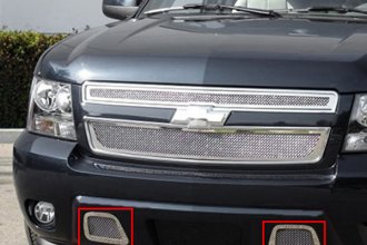 T-Rex® 55051 - 2-Pc Upper Class Series Polished Mesh Bumper Grille Kit