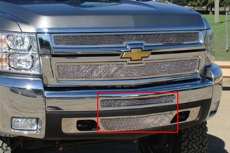 T-Rex® 55112 - 2-Pc Upper Class Series Polished Mesh Bumper Grille
