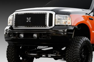 T-Rex® - 3-Pc Look X-Metal Series Black Mesh Grille