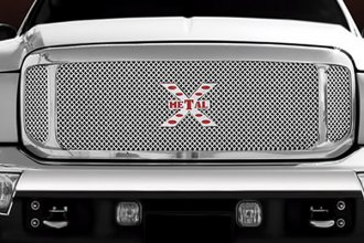 T-Rex® - 3-Pc Look X-Metal Series Polished Mesh Grille