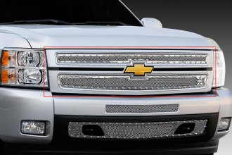 T-Rex® 6711100 - 2-Pc X-Metal Series Polished Mesh Main Grille
