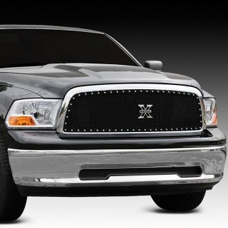 T-Rex® - 1-Pc X-Metal Series Black Custom Opening Mesh Grille
