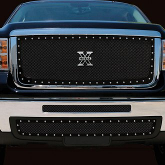 T-Rex® - 2-Pc X-Metal Series Black Mesh Grilles