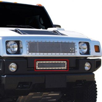 T-Rex® - X-Metal Series Polished Studded Mesh Bumper Grille