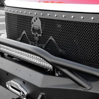 T-Rex® - 1-Pc Urban Assault Grunt Flat Black Studded Mesh Main Grille